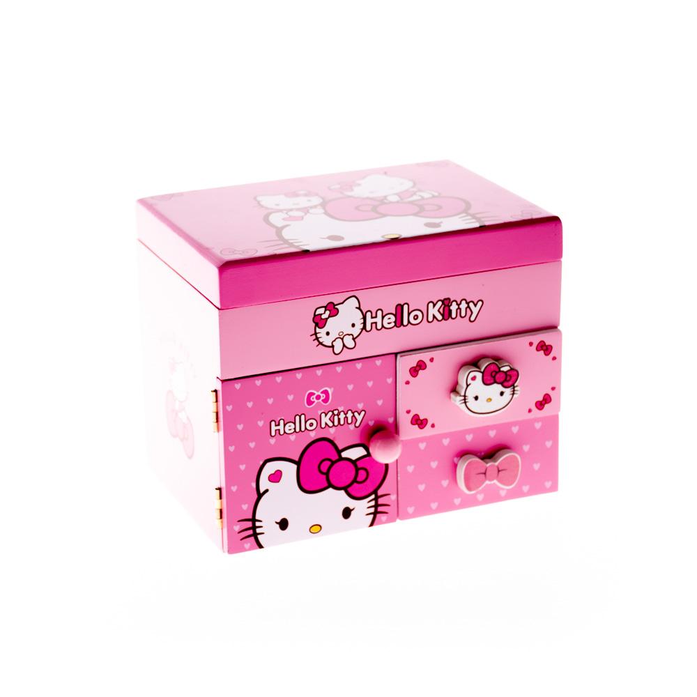 Փայտե զարդատուփ Hello Kitty