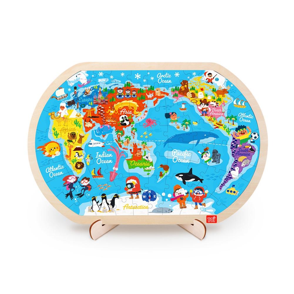 Փազլ աշխարհի քարտեզ