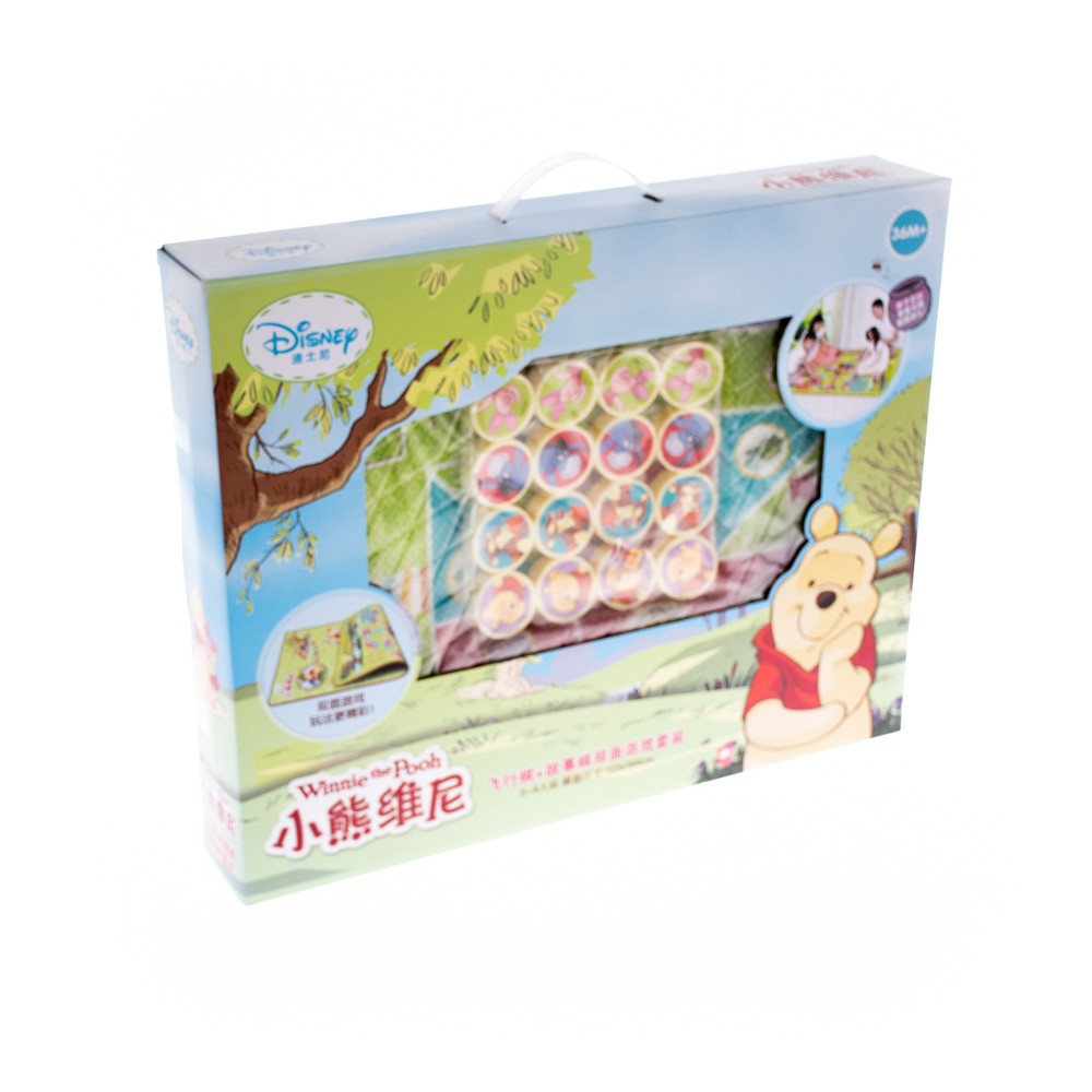 Զառով և ֆիշկաներով հատակի խաղ Winnie Pooh